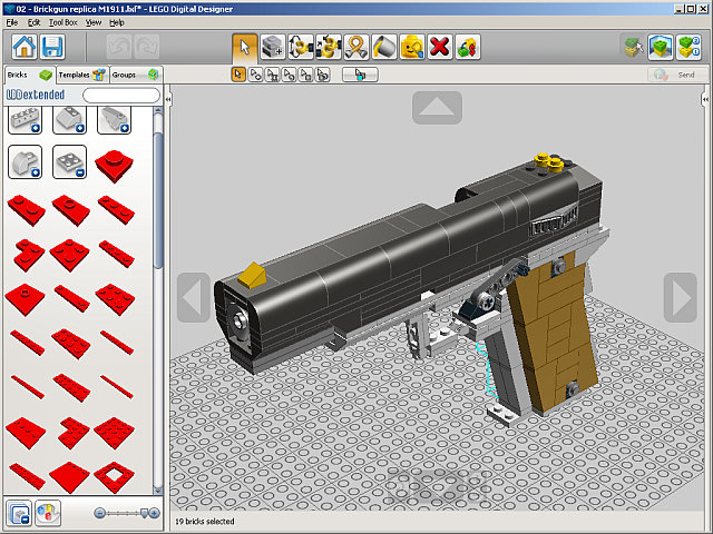 Imitating Brickgun with Lego Digital Designer | Bob's Shop